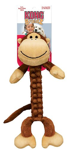Braidz Monkey Plush Dog Toy Size: Large, My Pet Supplies