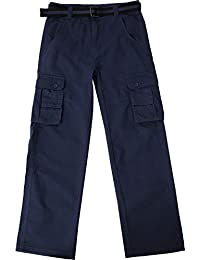 MX Mens Cargo Pants with Utility Belt Work Lightweight Relaxed Outdoor Trousers