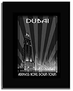 Address Hotel Down Town- Black And White F04-m (a3) - Framed