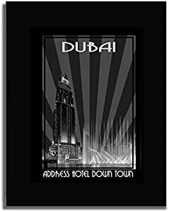 Address Hotel Down Town- Black And White F04-m (a2) - Framed