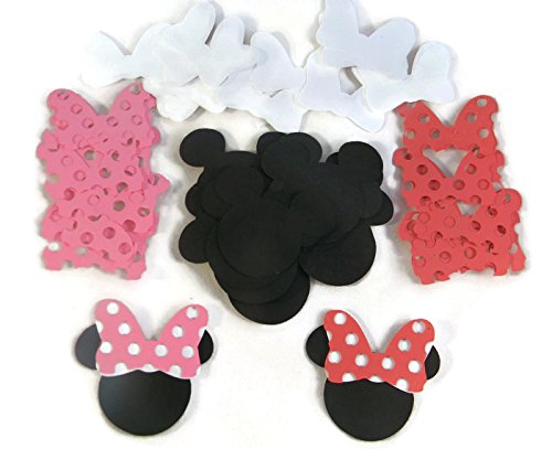 Die Cuts - Disney Minnie Mouse Heads & Bows Red/Pink - 60pc -
