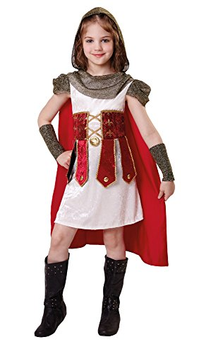 Bristol Novelty CF031 Roman Princess Costume, Small, 110 - 122 cm, Approx Age 3 -5 Years, Roman Princess (S) ()