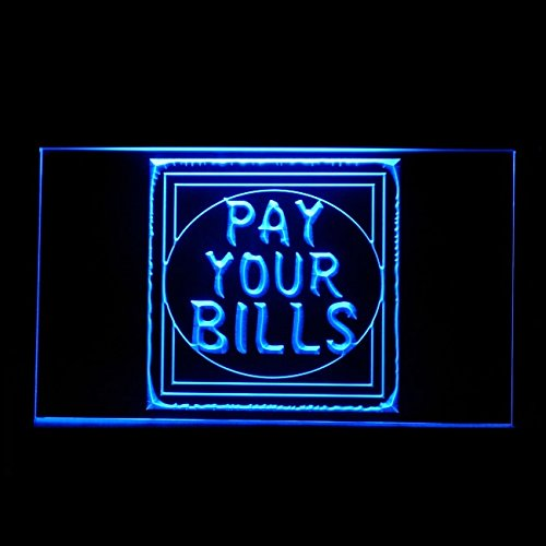 - 120158 Pay Your Bills Come Here Pay Checkout Delivery Display LED Light Sign