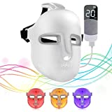 NEWKEY Led Light Therapy Facial Mask - Uses Newest Red / Blue / Yellow Light Therapy For Skin Rejuvenation | Whitening|Anti Aging | Smoothening Wrinkles | Weakening Scarring | Lighter Weight And More Comfortable