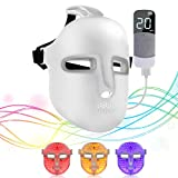 Phototherapy Light Mask,NEWKEY 3 Colors Wireless Remote Led Light Therapy Device-Facial Skin Rejuvenation