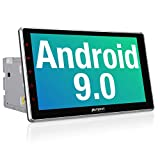 PUMPKIN 10.1 Inch Android 9.0 Car Stereo Double Din with WiFi, GPS, Fastboot, Support Android Auto, Backup Camera, USB SD, Detachable Touch Screen