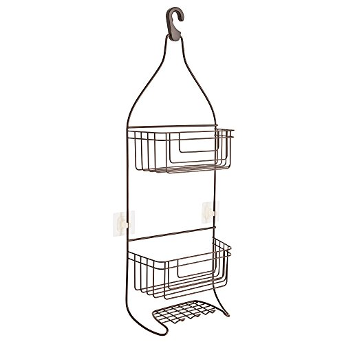 Franklin Brass 193295-CBZ IncrediGrip Bathroom Over-the-Showerhead Caddy for Shampoo, Conditioner, Soap, Classic (Head Hanger)