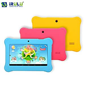 ARBUYSHOP iRULU BABYPAD Y2 7 niños pulgadas Tablet Google prueba GMS Quad Core Dual Cam Android 4.4 8GB gratis Juego Learn Grow Juego Niños Educación