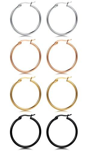 FIBO STEEL Stainless Earrings 10MM 25MM