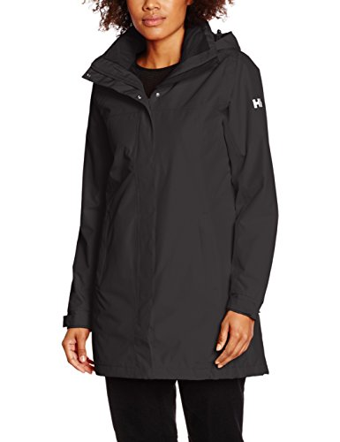 Helly Hansen Women's Aden Primaloft Insulated Waterproof Windproof Breathable Raincoat Jacket with Hood, 990 Black, Large