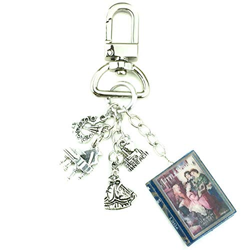 Little Women Louisa May Alcott First Edition Clay Mini Book Key Chain Bag Purse Backpack Clip - 1st Bag Tote Birthday