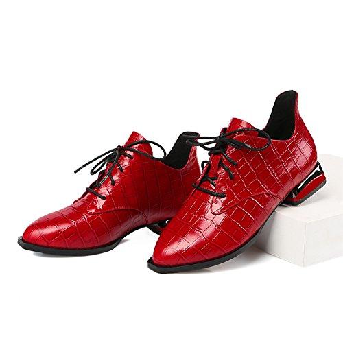 Otoño viento de zapatos de mujer de Inglaterra/zapatos puntiagudos/Señora profunda calza mujeres/Zapatos de mujer planos B
