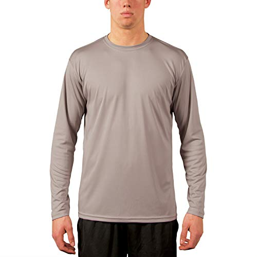 - Vapor Apparel Men's UPF 50+ UV Sun Protection Performance Long Sleeve T-Shirt X-Large Athletic Grey
