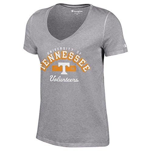 (Champion NCAA Women's University Short Sleeve Tagless V-Neck Tee Tennessee Volunteers X-Large)