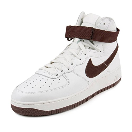 Nike Mens Air Force 1 Hi Retro QS Summit White/Chocolate Brown Leather Size 11