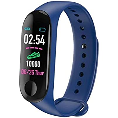 DMMDHR Smart band Heart Rate Blood Pressure Health Smart Bracelet Waterproof Bluetooth Smart Watch Wristband Fitness Tracker Estimated Price £36.70 -