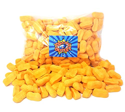 CrazyOutlet Pack - Spangler Circus Peanuts Marshmallow Banana-Flavored Candy, Fat-Free, Bulk Pack, 3 lbs