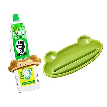 ac2shop Cartoon Exprimidor de tubo de pasta de dientes dispensador de pasta de dientes baño dispositivo