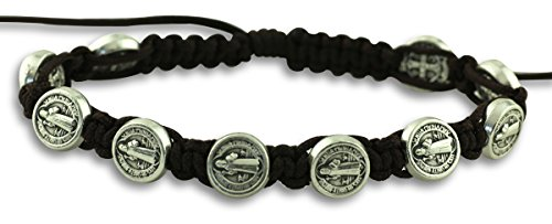 St. St Saint Benedict Jacobs Ladder Style Adjustable Rosary Bracelet