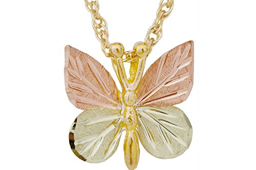 Black Hills Gold Butterfly Necklace