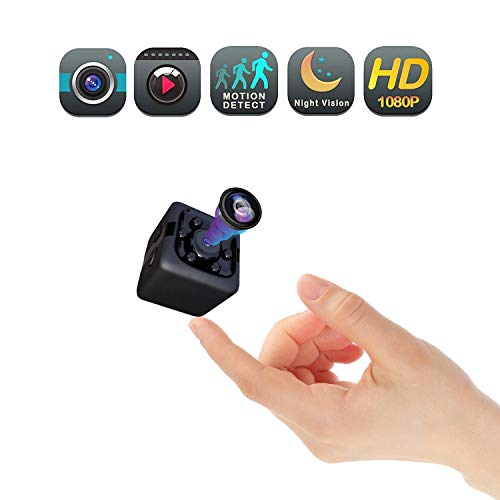 Mini Wireless Covert Spy Camera, Portable Mini Full HD 1080P Babysitter Cam with Night Vision, Video Recording and Home, Car, Drone, Office and Outdoor, Animal Dynamics Detection (Best Portable Spy Camera)