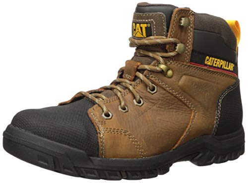 Caterpillar Women's Wellspring Waterproof MG Steel Toe Industrial Boot Real Brown 5.5 M US (Womens Steel Toe Boots With Metatarsal Guard)