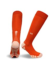 Vitalsox VT1211 Graduated Compression Performance Patented Training, Race, and Recovery Socks Pairs with DryStat