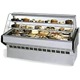 Federal Industries SQ-3CB Market Series Bakery Case Refrigerated Bottom Display Deck Non-Refrigerated Glass Shelves