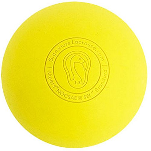 Signature Lacrosse Ball (2-Ball) Yellow NOCSAE & SEI Approved Yellow-2P - Meets Nocsae Standard