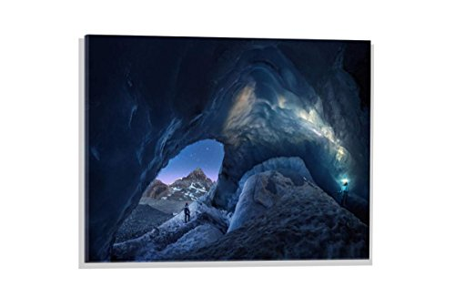 kunst für alle Glass Picture: Juan Pablo de Miguel Athabasca Explorers, Wall Picture, Brilliant Art Print on Real Glass, 23.6x15.7 inch / 60x40 cm