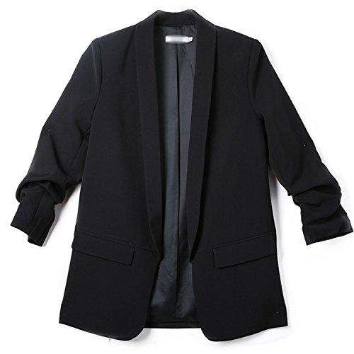 Mandaartins Women Blazers and Jackets Work Office Suit Slim Business Blazer Coat by Mandaartins