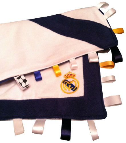 Real Madrid ~ Baby Blanket with Ribbon Tabs by Abuela Chachy's