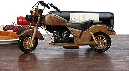 CCLLA Rack de Pared Vintage Motos Wine Racks Madera para Mesa | Sostenedor de Botella de Vino | Soporte para Vino rústico para vinoteca Armario para Vino | Organizador de Almacenamiento de Estante
