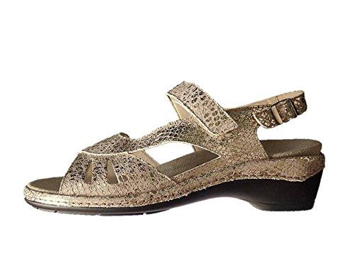 Semler Sandalette Sandalen platin Leder Weite K