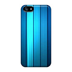 Awesome Design Blue Stripes Hard Case Cover For Iphone 5/5s