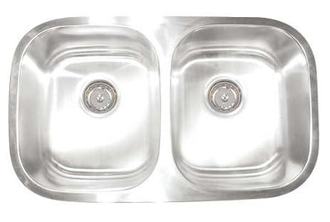 artisan ar 3218 d97 d premium collection 16 6auge 30 inch undermount double basin artisan ar 3218 d97 d premium collection 16 6auge 30 inch      rh   amazon com