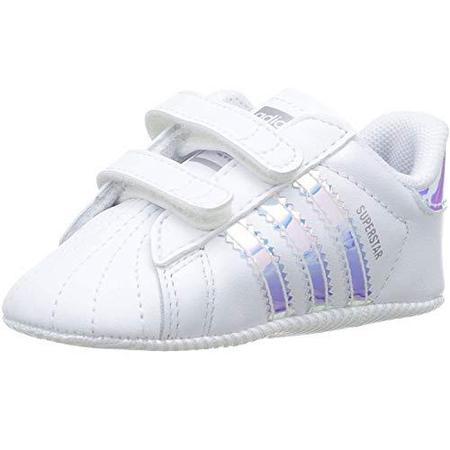 adidas Originals Superstar Crib White/Iridescent Leather 4 M US Infant