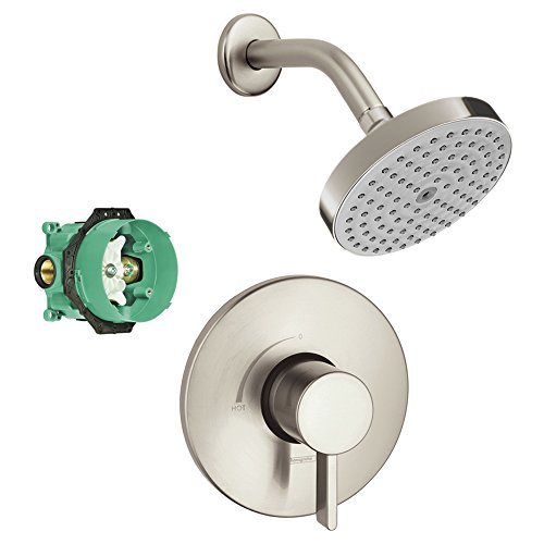 - Hansgrohe KS04233-27486BN-2 Raindance S 150 Air 1-Jet Showerhead Kit with PBV Trim, & Rough In Brushed Nickel