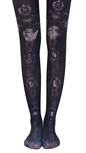 TightCode Ladies' Retro Tattoo Print Stockings Tights