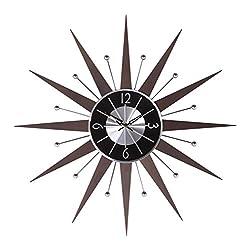 Stilnovo 122020ESP George Nelson Wooden Starburst Clock, Espresso