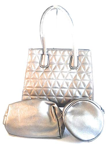 Stitch Set Purse Piece Silver Leather 3 Womens Cross qpPPTw8t