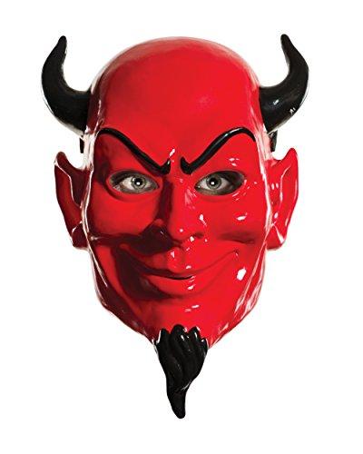 [Rubie's Women's Scream Queens Devil 1/2 Mask, Red, One Size] (Halloween Devil Mask)