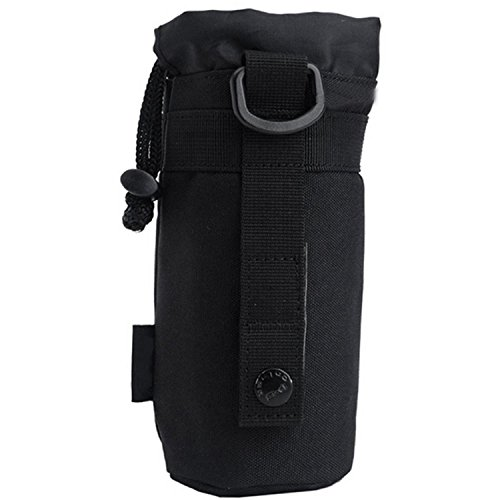 Outdoor Sport Tactical Gear Military Water Bottle Bag Kettle Pack Pouch,Black