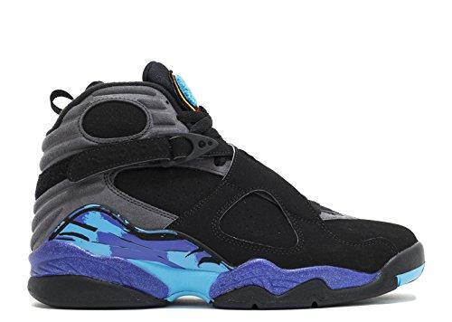 Jordan Air 8 Retro Mens Basketball Shoes Blk, Tr Rd-flnt Gry-brght Cncrd