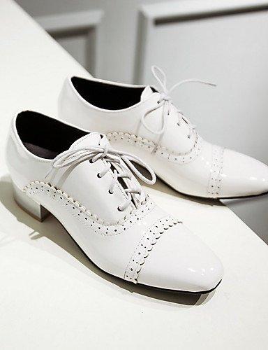 10 talon Blanc Femme noir Chaussures Habillé Rouge 5 White richelieu 8 Bas Travail Décontracté 5 Njx amp; Amande Uk7 bout Cn42 Eu41 bureau us9 Carré similicuir PRq5wwz
