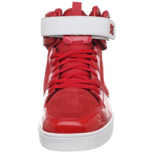 DC Shoes - Zapatillas de deporte de cuero para hombre Rojo