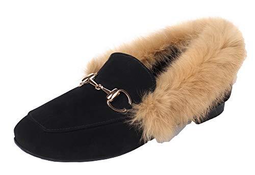 Femme Aalardom Chaussures Matière Talon Noir Tsfdh002857 Bas Légeres À Mélangee Couleur Unie gdHqdTwxr