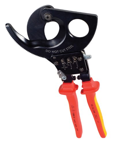 GREENLEE 45207I 11-Inch Ratchet Cable Cutter with Insulat...