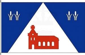 Mesa banderitas altas felde–Soporte para banderas de mesa de cromo