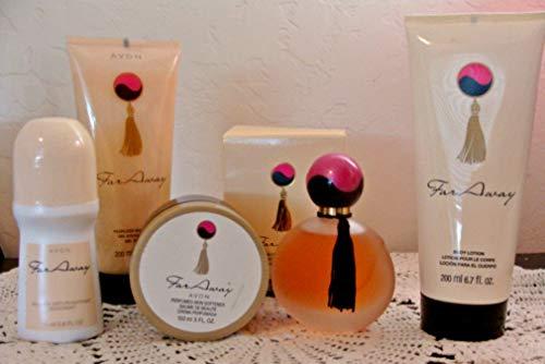 Avon Far Away Eau de Parfum, Shower Gel, Lotion, Skin Sofener & Deodorant Roll - Roll On Perfume Avon